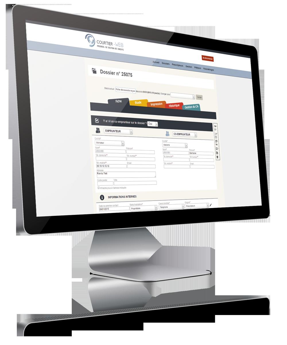 Présentation du logiciel de gestion de crédits Courtier Web